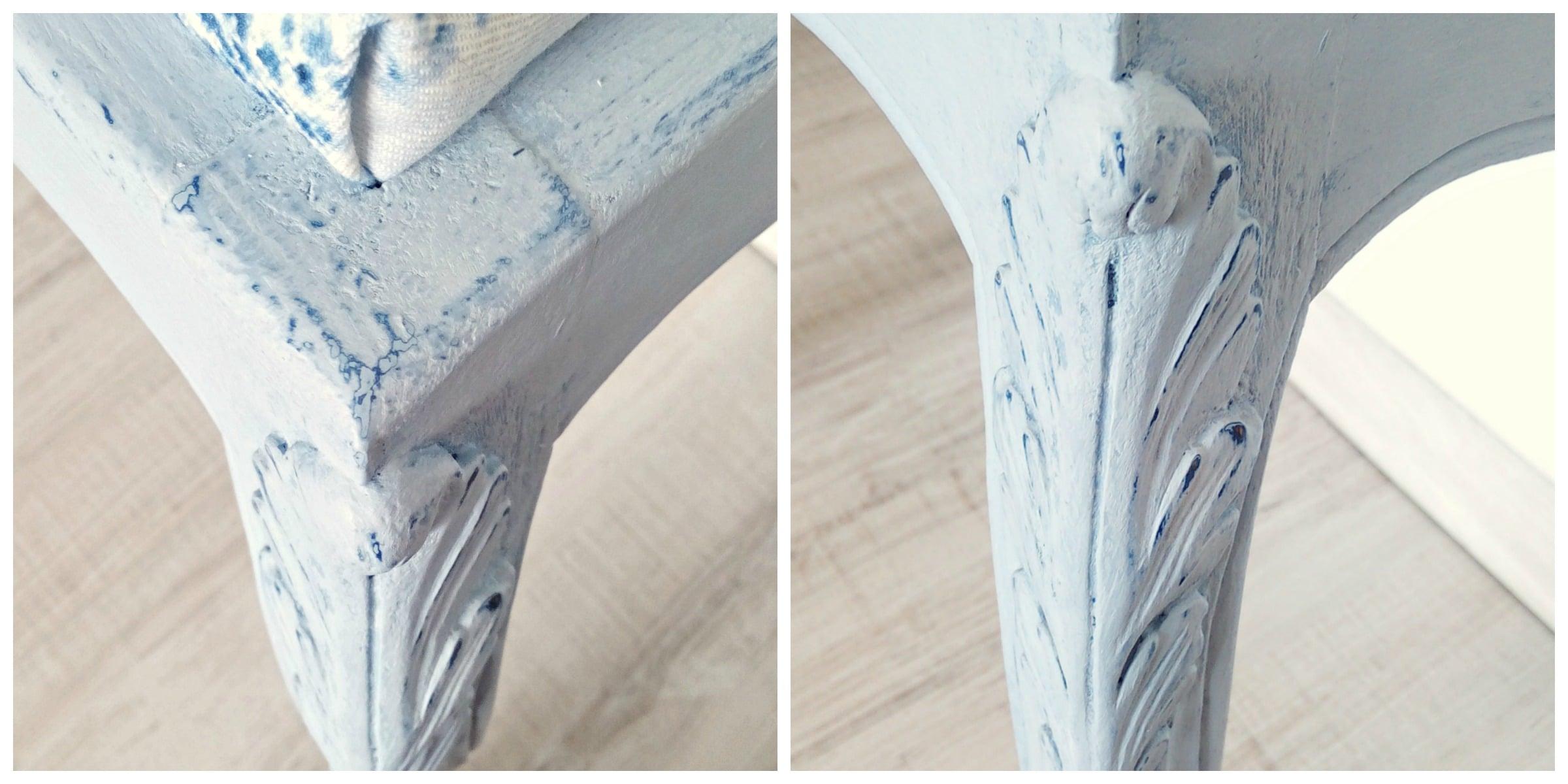 pufka ludwik w kolorach napoleonic blue i louis blue