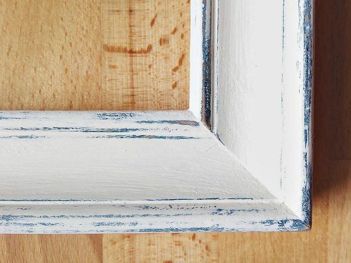 ramka shabby provence malowana farbami kredowymi Annie Sloan