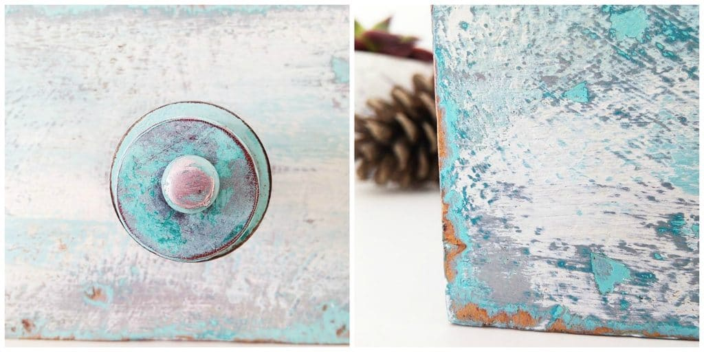 szuflada malowana farbami kredowymi